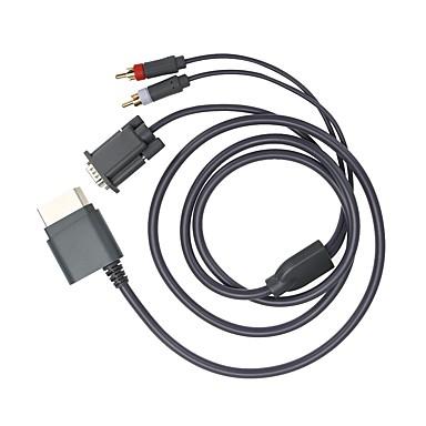 olcso Xbox 360 tartozékok-vga komponens audiokábel az Xbox 360 hd vga av kábelhez& 2RCA