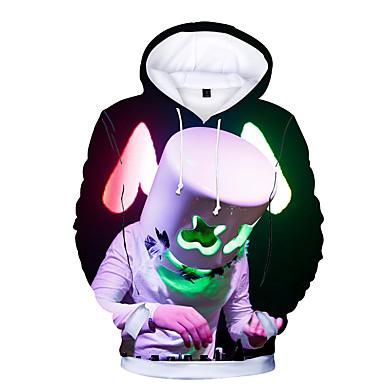 cheap Boys' Hoodies & Sweatshirts-Kids Toddler Boys' Basic Print Print Long Sleeve Hoodie & Sweatshirt Rainbow