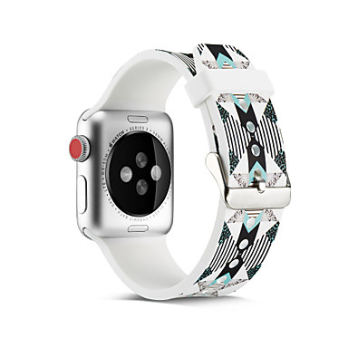 Недорогие Ремешки для Apple Watch-Геометрический браслет SmartWatch для Apple Watch серии 4/3/2/1 силиконовый классический ремешок с пряжкой iwatch