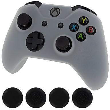 olcso Xbox 360 tartozékok-generikus új szilikon burkolatot tartalmazó bőrvezérlő& fogantyús kupakok xbox 1-hez (fehér)