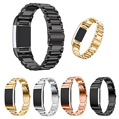 voordelige Smartwatch-accessoires-Horlogeband voor Fitbit Charge 2 Fitbit Butterfly Buckle Roestvrij staal Polsband