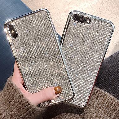 voordelige iPhone 6 Plus hoesjes-hoesje Voor Apple iPhone XS / iPhone XR / iPhone XS Max Schokbestendig / Waterbestendig / Strass Achterkant Effen Zacht TPU