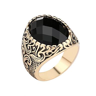 זול טבעות-בגדי ריקוד גברים טבעת Fashion Ring תכשיטים זהב עבור מתנה יומי 2pcs