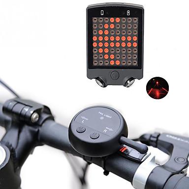 ieftine Lumini de Bicicletă-Laser LED Lumini de Bicicletă Lumini de Bicicletă Iluminat Bicicletă Spate LED Ciclism Reîncărcabil Foarte luminos Atenţie 100 lm Baterie Ciclism