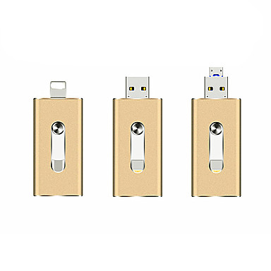 economico Chiavette USB-La più luminosa unità flash usb otb più piccola si applica a Apple Android 3 in 1 metal u disk-32 gb