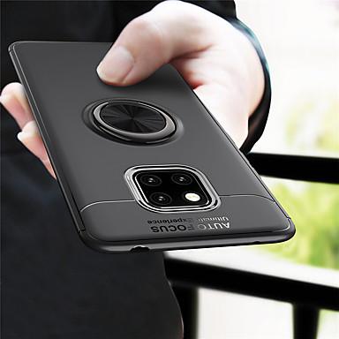 voordelige Huawei Mate hoesjes / covers-hoesje Voor Huawei Mate 10 / Mate 10 pro / Huawei Mate 20 pro Ringhouder Achterkant Effen Zacht TPU