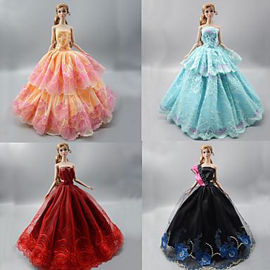 dca58ec2d abordables Ropa para Barbies-Fiesta   Noche Vestidos por Barbiedoll Tela de  Encaje   Organdí