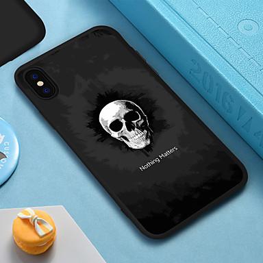 voordelige iPhone 6 Plus hoesjes-hoesje voor iphone xs max xr xs x achterkant van de behuizing zachte hoes tpu schedel zachte tpu voor iphone 8 plus 7 plus 7 6 plus 6 8