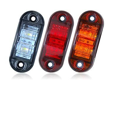 Недорогие Фары для мотоциклов-Sencart 2шт 12v 24v янтарно-желтый белый красный dsside свет светодиодный маркер прицеп грузовика включить габаритный фонарь