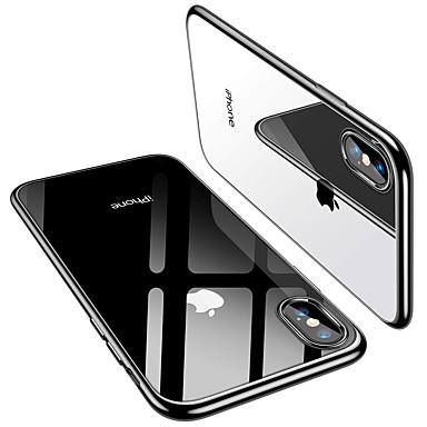 voordelige iPhone X hoesjes-hoesje Voor Apple iPhone XS / iPhone XR / iPhone XS Max Beplating / Ultradun Achterkant Effen Zacht TPU