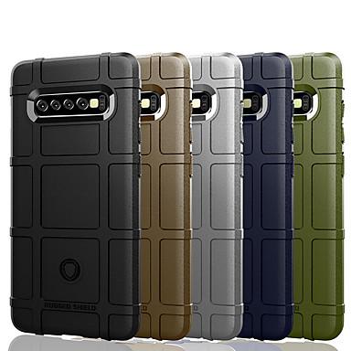 voordelige Galaxy S-serie hoesjes / covers-hoesje Voor Samsung Galaxy S9 / S9 Plus / S8 Plus Schokbestendig / Stofbestendig / Waterbestendig Achterkant Effen / Geometrisch patroon Zacht TPU