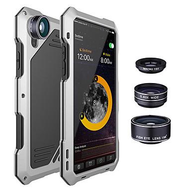 Недорогие Кейсы для iPhone-противоударная металлическая задняя крышка с 3-мя объективами для iphone x 7/8 7/8 plus