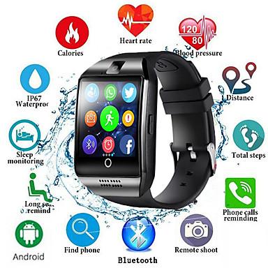 זול שעונים חכמים-Q18s שעון חכם גברים תמיכה tf כרטיס ה- SIM לדחוף הודעה לענות להתקשר כושר גשש Bluetooth smartwatch עבור הטלפון אנדרואיד