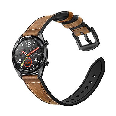 Недорогие Ремешки для часов Huawei-Ремешок для часов для Huawei Watch GT / Watch 2 Pro Huawei Спортивный ремешок / Классическая застежка силиконовый / Натуральная кожа Повязка на запястье