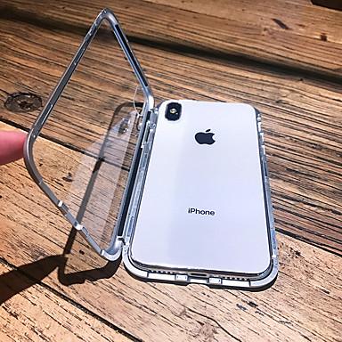 voordelige iPhone-hoesjes-hoesje voor apple iphone xs max / iphone x magnetisch / transparant full body koffers stevig gekleurd hard metaal voor iphone 6 / iphone 6 plus / iphone 6s