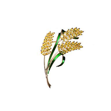 ieftine Broșe-Pentru femei Zirconiu Cubic Broșe Stilat Simplu Broșă Bijuterii Auriu Pentru Nuntă Petrecere Logodnă Cadou Muncă