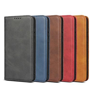 voordelige Huawei Mate hoesjes / covers-case voor huawei mate 20x / nova 4 flip / met statief / schokbestendig full body koffers stevig gekleurd hard leder voor maat 10 lite / mate 20 lite / mate 20 pro / honor 10 lite /