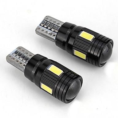 voordelige Automistlampen-2stk10 led-koplampset 6000k dimlicht witte lens mistmarkeerlamp - zwart