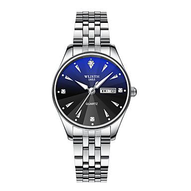 e31e60214 رخيصةأون ساعات النساء-نسائي ساعات حزام معدني كوارتز ستانلس ستيل أسود /  الأبيض 30 m