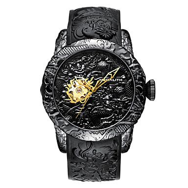 זול שעוני גברים-בגדי ריקוד גברים שעוני שמלה קווארץ ספורטיבי מסוגנן סיליקוןריצה שחור / אפור 30 m כרונוגרף יצירתי זורח אנלוגי יום יומי אופנתי - אפור כחול שחור / זהב שנתיים חיי סוללה