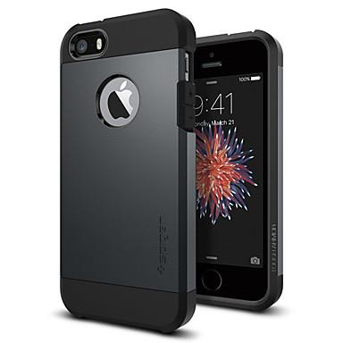 voordelige iPhone 5 hoesjes-case voor apple iphone 5 / 5s / se schokbestendig / stofdicht achterkant effen gekleurde harde pc voor iphone 5 / iphone se / 5s