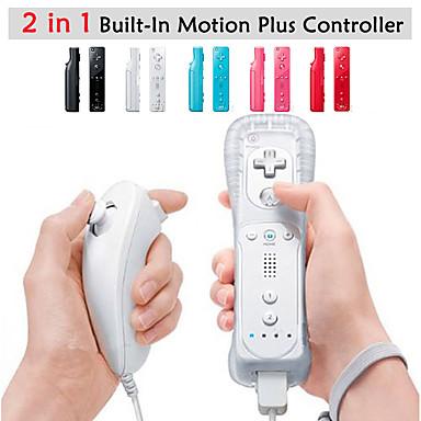olcso Wii tartozékok-Vezeték nélküli játékvezérlő Kompatibilitás Wii U / Wii ,  Wii MotionPlus játékvezérlő Fém / ABS 1 pcs egység