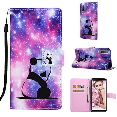 ราคาถูก เคสและซองสำหรับ Galaxy A7-Case สำหรับ Samsung Galaxy A7 / Galaxy A30 (2019) / Galaxy A50 (2019) Wallet / Card Holder / Shockproof ตัวกระเป๋าเต็ม การ์ตูน Hard หนัง PU / TPU