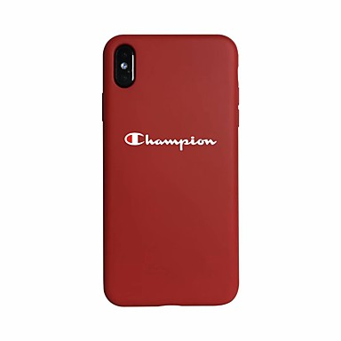 voordelige iPhone X hoesjes-hoesje Voor Apple iPhone XS / iPhone XR / iPhone XS Max Glow in the dark / Ultradun Achterkant Woord / tekst Zacht silica Gel
