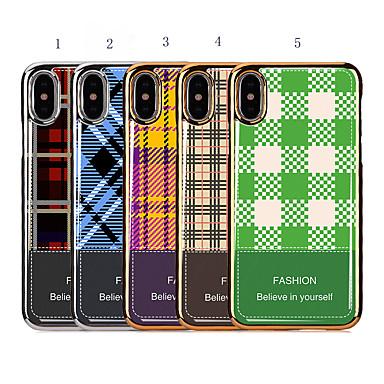voordelige iPhone 6 Plus hoesjes-hoesje voor apple iphone xr / iphone xs max plating / schokbestendig achterklep geometrisch patroon voor iphone 6 / iphone 6 plus / 7 / 7pius / 8 / 8pius / x / xs