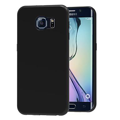 Недорогие Чехлы и кейсы для Galaxy S6 Edge-Кейс для Назначение SSamsung Galaxy S6 edge Ультратонкий Кейс на заднюю панель Однотонный Мягкий ТПУ