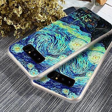 Недорогие Чехлы и кейсы для Galaxy S6-Кейс для Назначение SSamsung Galaxy S9 / S9 Plus / S8 Plus Защита от пыли / Ультратонкий / С узором Кейс на заднюю панель Пейзаж Мягкий ТПУ