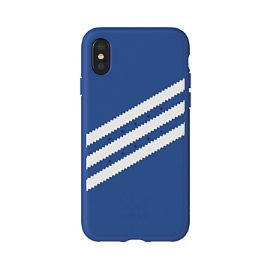 Недорогие Кейсы для iPhone-Кейс для Назначение Apple iPhone X Защита от удара / Защита от пыли / Резервная копия Кейс на заднюю панель Однотонный / Полосы / волосы Твердый Пластик / Ластик / ПК