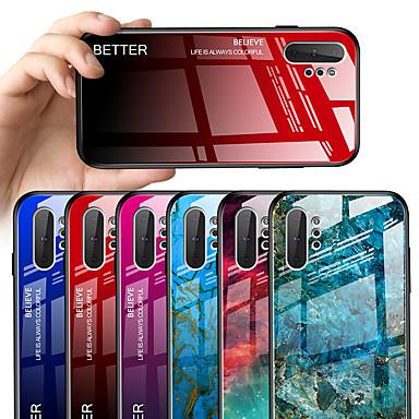 voordelige Galaxy Note-serie hoesjes / covers-hoesje Voor Samsung Galaxy Note 9 Patroon Achterkant Marmer / Kleurgradatie Hard Gehard glas