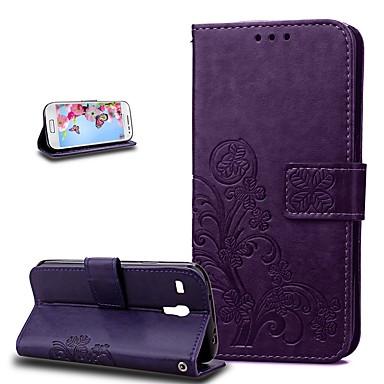 Недорогие Чехлы и кейсы для Galaxy S3 Mini-Кейс для Назначение SSamsung Galaxy S3 Mini Защита от удара Чехол Цветы Твердый Кожа PU