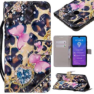ieftine Carcase / Huse de Huawei-Maska Pentru Huawei Huawei Y6 (2019) / Mate 10 lite Portofel / Titluar Card / Anti Șoc Carcasă Telefon Fluture Greu PU piele pentru Huawei Nova 3i / Mate 10 / Mate 10 pro