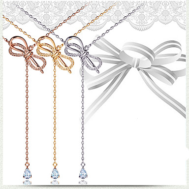 economico Collana-Per donna Girocolli Rame Oro Bianco Oro rosa 45 cm Collana Gioielli 1pc Per Natale Matrimonio Fidanzamento Carnevale Festival
