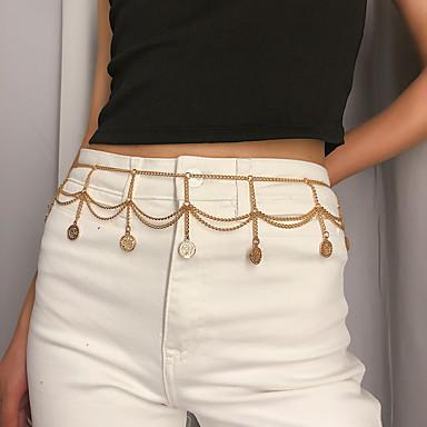 ieftine Bijuterii de Corp-Pentru femei Bijuterii de corp 103 cm Lanț Talie Auriu / Argintiu Simplu / La modă Aliaj Costum de bijuterii Pentru Petrecere / Cadou / Zilnic Vară