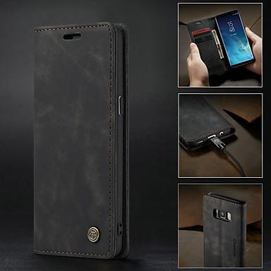 voordelige Galaxy S-serie hoesjes / covers-hoesje Voor Samsung Galaxy S9 / S9 Plus / S8 Plus Portemonnee / Kaarthouder / Schokbestendig Volledig hoesje Effen Hard PU-nahka / Ultradun
