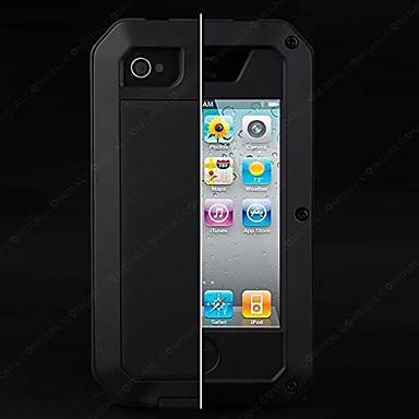 Недорогие Кейсы для iPhone-Кейс для Назначение Apple iPhone SE / 5s / iPhone 5 Водонепроницаемый / Защита от удара / Защита от пыли Чехол Однотонный Твердый ПК