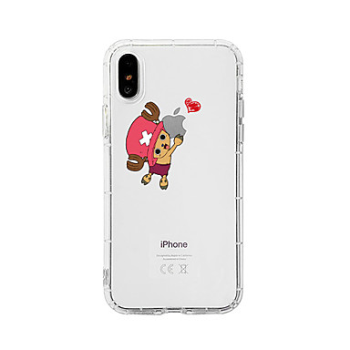 voordelige iPhone 7 hoesjes-hoesje Voor Apple iPhone XS / iPhone XR / iPhone XS Max Schokbestendig / Stofbestendig / Transparant Achterkant Kat / Transparant / Cartoon TPU