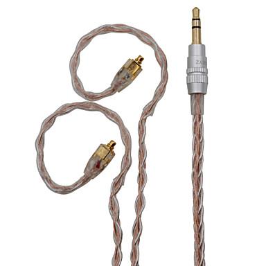 billige Kabler og adaptere-bqeyz 8 kerne opgraderingskabel enkeltkrystal kobber sølvbelagt blandet hifi 3,5 mm guldstik mmcx stik til se846 tin