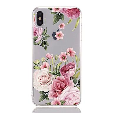voordelige iPhone 5 hoesjes-hoesje Voor Apple iPhone XS / iPhone XR / iPhone XS Max Schokbestendig / Transparant / Patroon Achterkant Bloem Zacht TPU