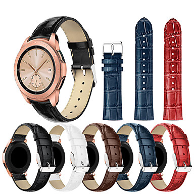 Недорогие Часы для Samsung-браслет из натуральной кожи ремешок на запястье ремешок для часов samsung galaxy 42 мм / часы galaxy active / gear sport / gear s2 классические аксессуары для умных часов браслет