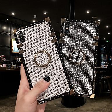 voordelige Galaxy Note-serie hoesjes / covers-hoesje voor samsung galaxy s9 / s9 plus / s8 plus / s8 / s10 / s10 plus / s10e / note 8 / note 9 / m20 / m30 schokbestendig / ringhouder / glitter shine achterkant hemel / pantser metaal