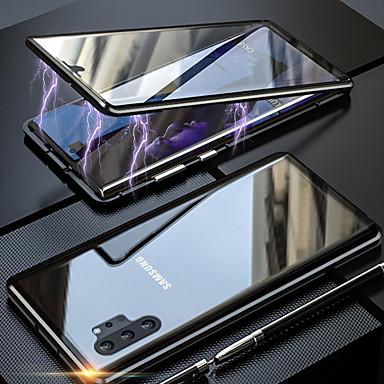 voordelige Galaxy Note-serie hoesjes / covers-magneto magnetische adsorptie metalen glazen behuizing voor samsung galaxy note 10 pro note 10 achterkant van de behuizing voor samsung galaxy note 9 note 8