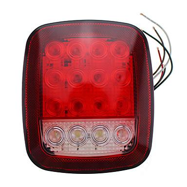 Недорогие Фары для мотоциклов-1 пара 16 светодиодов двухцветная лампа универсальный грузовик боковой световой сигнал предупреждающий индикатор