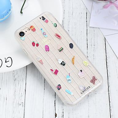voordelige iPhone 5 hoesjes-hoesje voor Apple iPhone XS Max / iPhone XR waterdicht / stofdicht / doorschijnende achterkant voedsel zachte TPU / cartoon leuke mode shell telefoon hoesje voor iPhone 5 / 5s / 6 / 6s / iPhone 6 / 6s