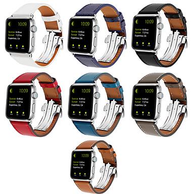 Недорогие Ремешки для Apple Watch-Ремешок для часов для Apple Watch Series 4 / Apple Watch Series 4/3/2/1 Apple Кожаный ремешок Натуральная кожа Повязка на запястье