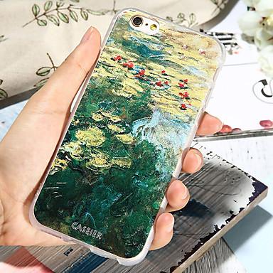 voordelige iPhone 5 hoesjes-hoesje Voor Apple iPhone XS / iPhone X / iPhone 8 Plus Stofbestendig / Ultradun / Patroon Achterkant Landschap TPU