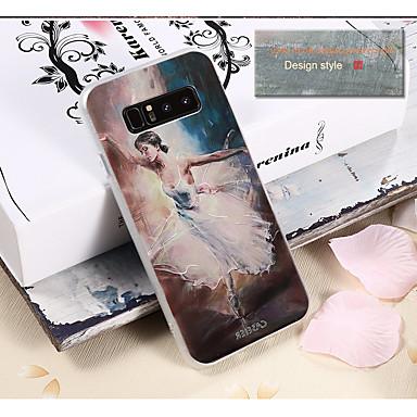 Недорогие Чехлы и кейсы для Galaxy S6 Edge-Кейс для Назначение SSamsung Galaxy S8 Plus / S8 / S7 edge Водонепроницаемый / Защита от пыли / С узором Кейс на заднюю панель Соблазнительная девушка ТПУ